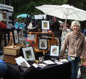 Sheila does Gabriola Saturday morning market.